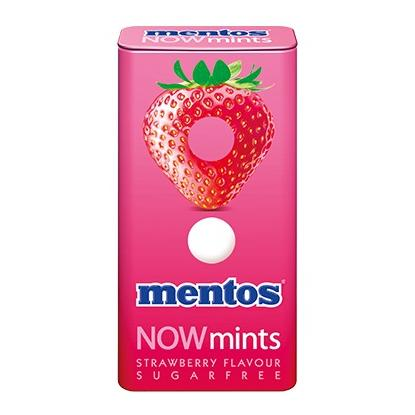 MENTOS NOWMINTS STRAWBERRY 18G