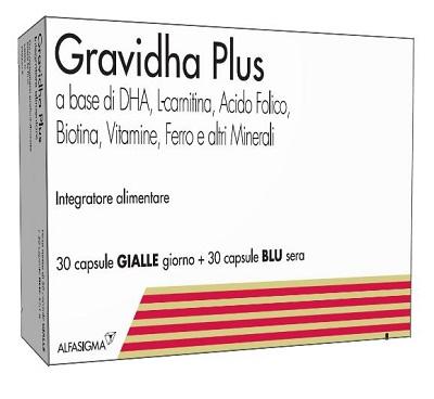 GRAVIDHA PLUS 30 CAPSULE GIALLE GIORNO + 30 CAPSULE BLU SERA