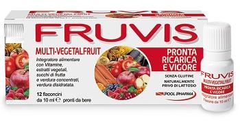 FRUVIS MULTI-VEGETALFRUIT PRONTA RICARICA E VIGORE 12 FLACONCINI DA 10 ML