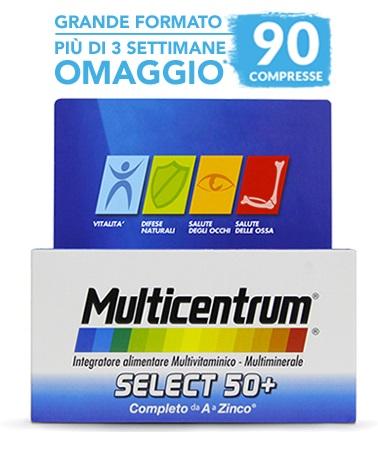 MULTICENTRUM SELECT 50+ 90 COMPRESSE