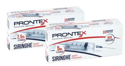 SIRINGA PRONTEX 5 ML AGO IND 10 PEZZI