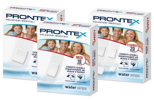 CEROTTO PRONTEX WATER STRIPS ASSORTITO 20 PEZZI