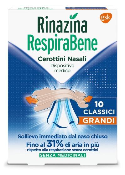 RINAZINA RESPIRABENE CEROTTI NASALI CLASSICI GRANDI SRP 10 PEZZI